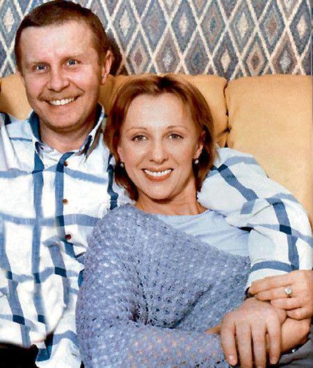 Елена Яковлева с мужем