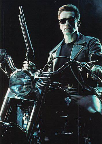 Терминатор на мотоцикле