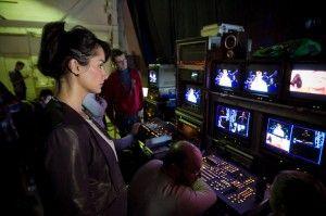 Тина Канделаки во время создания нового ток-шоу
