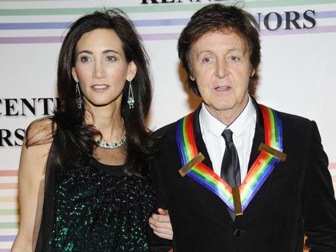 Полом Маккартни и его жена Нэнси Шевелл