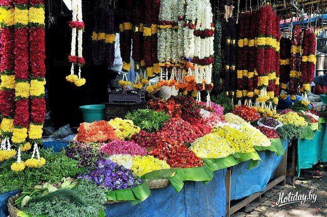 Индийский цветочный рынок