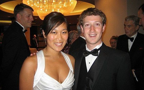 Майкл Цукенберг с женой Присциллой Чан