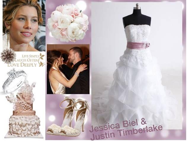 подвенечное платье и свадебные аксессуары Джессики Биль