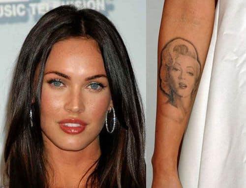 Меган Фокс татуировки