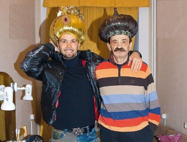 Денис Клявер и отцом Ильей Олейниковым