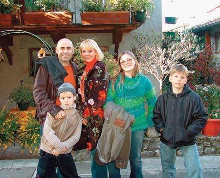 Семья Валерии на отдыхе