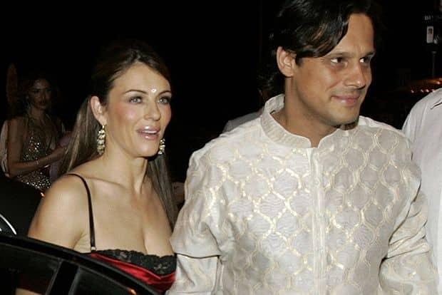 Элизабет Херли и индийский бизнесмен Арун Наяр