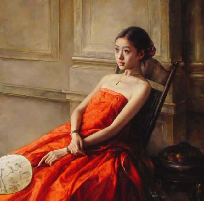Произведение мастеров китайской живописной школы