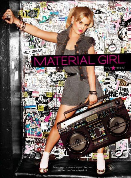Келли Осборн в рекламе одежды ТМ Material Girl
