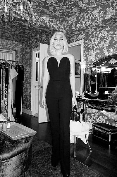 Леди Гага перед выступлением