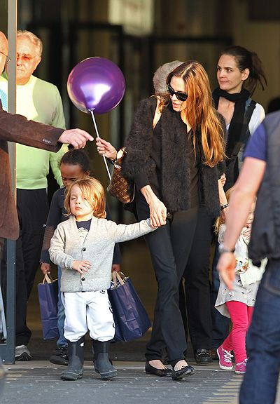 EXCLUSIVE: Angelina Jolie with her children and Brad Pitt's parents in Hungary