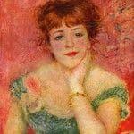 """Центральным экспонатом выставки является знаменитая картина Пьера Огюста Ренуара """"Портрет актрисы Жанны Самари""""."""