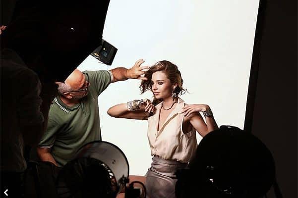 Миранда Керр на съёмках рекламной компании Swarovski