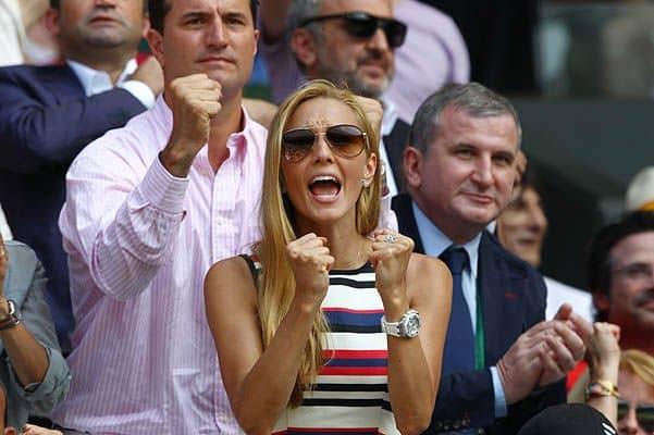 Елена Растич на теннисном турнире болеет за своего жениха