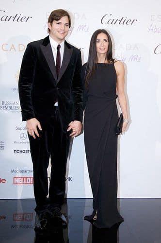 Деми Мур с экс-супругом Эштоном Катчером