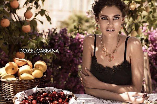 Бьянка Баллти в рекламе Dolce&Gabbana