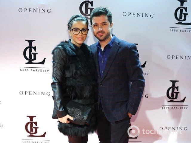 Анни Лорак с супругом Муратом на открытии Leps Bar в Киеве