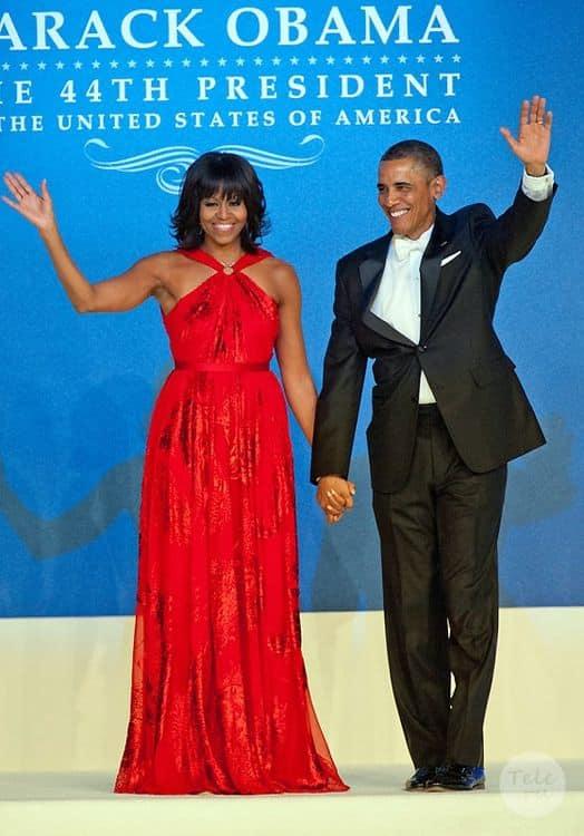 Барак и Мишель Обама в счастливые времена, на инагурации