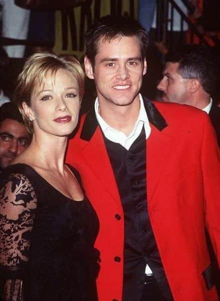 Джим Керри со второй женой актрисой Лорен Холли