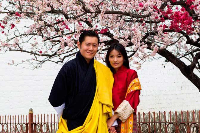 Королевская чета Бутана