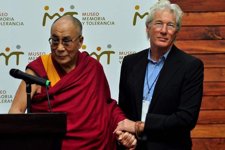 Ричард Гир и Далай Ламой