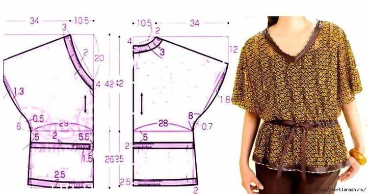Выкройки блузок для начинающих простые выкройки своими руками? фото