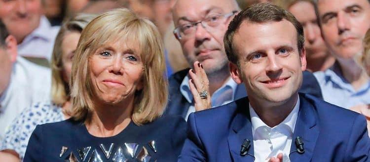 Жена президента Франции Макрона разница в возрасте фото
