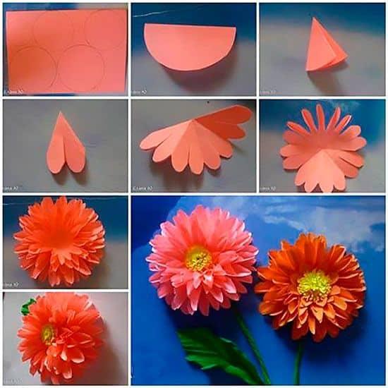 Объемные цветы: астра