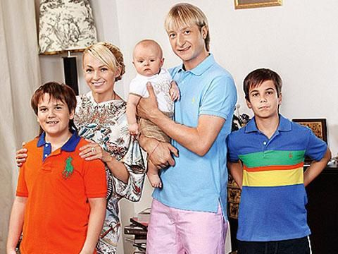 Дети Евгения Плющенко фото