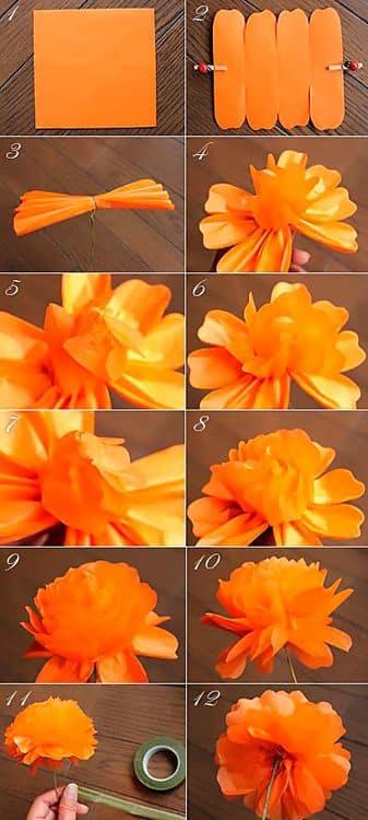 Объемные цветы: календула