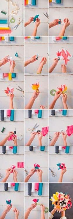Как сделать объемные цветы из бумаги своими руками - мак