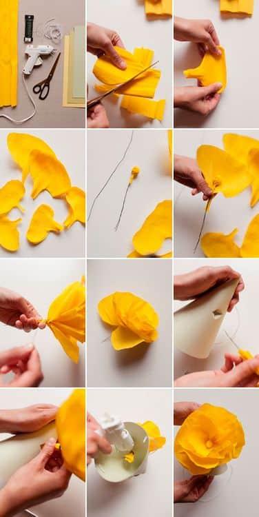 Объемные цветы: мак
