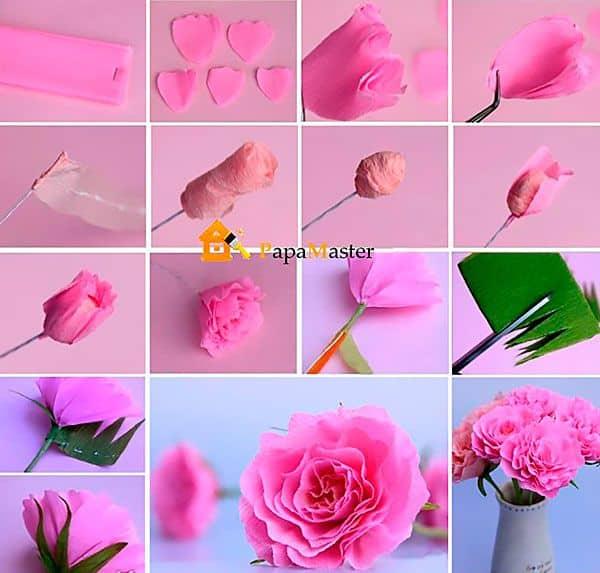 Как сделать объемные цветы из бумаги своими руками - пионы