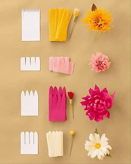 Как сделать цветы из бумаги своими руками 90