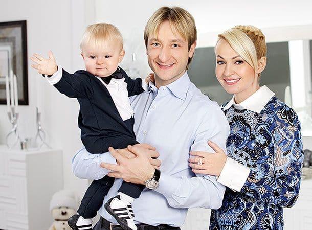 Семья Евгения Плющенко фото