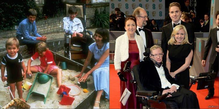 Семья и дети Стивена Хокинга фото