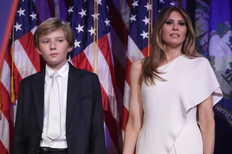 Сын Мелании Трамп – Бэррон Трамп фото