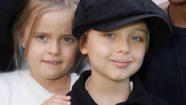 Двойняшки Брэда Питта и Анджелины Джоли – Нокс Леон и Вивьен Маршелин фото