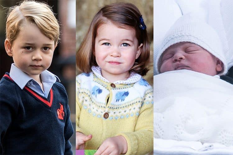 Фото детей Кейт Миддлтон и Принца Уильяма